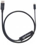 Manhattan Cable USB C Macho - DisplayPort Macho, 2 Metros, Negro