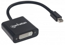 Manhattan Adaptador Mini DisplayPort Macho - DVI-I Hembra, Negro