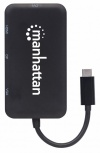 Manhattan Adaptador USB C - DisplayPort/DVI/VGA/HDMI, Negro