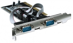 Manhattan Tarjeta PCI Serial, Alámbrico, 0.1 Mbit/s, con 2 puertos DB9