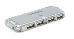 Manhattan Hub USB 2.0 de 4 Puertos, 480 Mbit/s