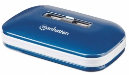 Manhattan Hub USB 2.0 de 7 Puertos, 480 Mbit/s, con Fuente