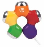 Manhattan Hub Flexible USB 2.0 de 4 Puertos, 480 Mbit/s, Diseño Flor Multicolor