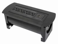 Manhattan Caja para Mesa 164849, 4 Puertos + 2x USB, Negro