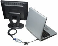 Manhattan Adaptador USB 2.0 Macho - SVGA Hembra, 0.5 Metros