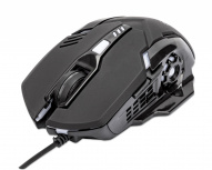 Mouse Gamer Ergonómico Manhattan Óptico, Alámbrico, USB, 3200DPI, Negro