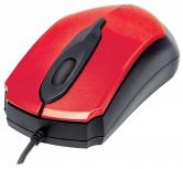 Mouse Manhattan Óptico Edge, Alámbrico, USB, 1000DPI, Rojo/Negro