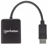 Manhattan Adaptador DisplayPort Macho - 2x DisplayPort Hembra, Negro