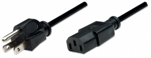Manhattan Cable IEC 60320 C13 Macho - NEMA 5-15 Macho, 1.8 Metros, Negro
