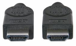 Manhattan Cable HDMI de Alta Velocidad, HDMI Macho - HDMI Macho, 4K, 3D, 3 Metros, Negro