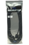 Manhattan Cable para Monitor SVGA 8mm, VGA (D-Sub) Macho - VGA (D-Sub) Macho, 9 Metros, Negro