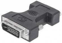 Manhattan Adaptador DVI-A&D&I Enlace Dual Macho - VGA hembra (HD15 FM)