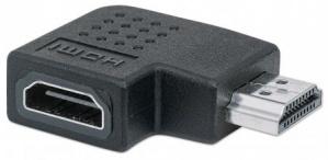 Manhattan Adaptador HDMI A Hembra - HDMI A Macho, Ángulo Izquierdo de 90°