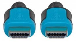 Manhattan Cable HDMI Macho - HDMI Macho, 3 Metros, Negro/Azul