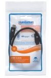 Manhattan Cable USB C Macho - USB C Macho, 50cm, Negro