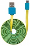 Manhattan Cable Plano USB 2.0 A Macho - Micro USB 2.0 B Macho, 1 Metro, Azul/Amarillo