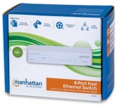 Switch Manhattan Fast Ethernet 560689, 8 Puertos 10/100 Mbps - No Administrable