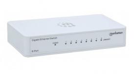 Switch Manhattan Gigabit Ethernet 560702, 8 Puertos 10/100/1000Mbps, 16 Gbit/s, 2048 Entradas