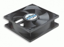 Ventilador Manhattan 3-pin para PC, 80mm, 2500RPM, Negro