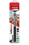 Maxell Selfie Stick Retractil Aluminio, 75cm, Negro/Plata
