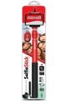Maxell Selfie Stick Retractil Aluminio, 75cm, Negro/Rojo