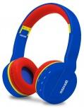 Maxell Audífonos con Mifrófono MXH-BT800, Bluetooth, Inalámbrico, 3.5 mm, Azul/Rojo