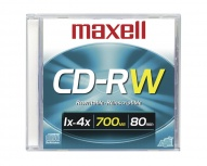 Maxell Disco Virgen para CD, CD-RW, 4x, 700MB, 1 Pieza