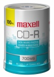Maxell Torre de Discos Virgenes para CD, CD-R, 48x, 700MB - 100 Piezas