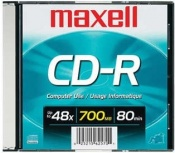 Maxell Disco Virgen para CD, CD-R, 48x, 1 Disco (648290)