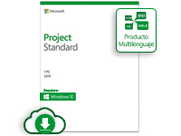 Microsoft Project Standard 2019, 1 PC, Plurilingüe, Windows ― Producto Digital Descargable