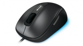 Mouse Microsoft Comfort 4500 BlueTrack, Alámbrico, 1000DPI, Negro