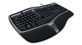 Teclado Microsoft Natural Ergonomic Keyboard 4000 for Business, Alámbrico, USB, Negro (Inglés)