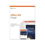 Microsof Office 365 Hogar, 64-bit, 6 PC, Español, Windows/Mac