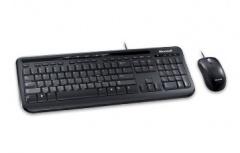 Kit de Teclado y Mouse Microsoft Wired Desktop 600, Alámbrico, USB, Negro (Inglés)