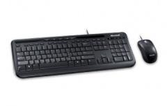 Kit de Teclado y Mouse Microsoft Wired Desktop 600, Alámbrico, USB, Negro (Español)