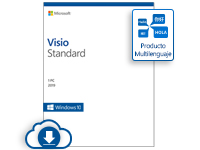 Microsoft Visio Standard 2019, 1 PC, Plurilingüe, Windows ― Producto Digital Descargable