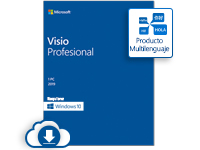 Microsoft Visio Professional 2019, 1 PC, Plurilingüe, Windows ― Producto Digital Descargable