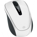 Mouse Microsoft BlueTrack Wireless Mobile 3500, RF Inalámbrico, USB, 1000 DPI, Blanco