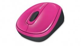 Mouse Microsoft BlueTrack WMM 3500, RF Inalámbrico, Magenta
