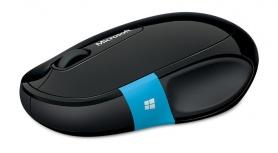 Mouse Microsoft BlueTrack Sculpt Comfort, Inalámbrico, Bluetooth, 1000DPI, Negro/Azul