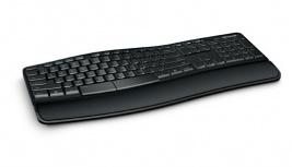 Teclado Microsoft Sculpt Comfort Desktop, RF Inalámbrico, Negro (Inglés)
