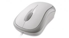 Mouse Microsoft Óptico Básico P58-00062, Alámbrico, USB, Blanco