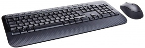 Kit de Teclado y Mouse Microsoft Wireless Desktop 2000, Inalámbrico, Negro (Español)