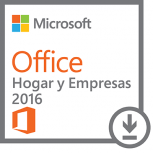 Microsoft Office Hogar y Empresas 2016, 32/64-bit, 1 PC, Plurilingüe, Windows ― Producto Digital Descargable