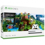 Microsoft Xbox One S, 1TB, WiFi, 2x HDMI, Blanco - incluye Minecraft