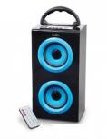 Misik Bocina Portátil MS260, Bluetooth, Alámbrico/Inalámbrico, Negro/Azul