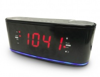 Misik Radio Despertador MR442, FM, Negro