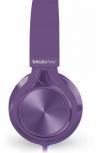 Mobifree Audífonos con Micrófono MM-300, Alámbrico, 1.2 Metros, 3.5mm, Púrpura