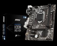 Tarjeta Madre MSI microATX H310M PRO-VDH, S-1151, Intel H310, 32GB DDR4 para Intel ― Compatibles solo con 8va y/o  9va Generación (Revisar modelos aplicables)