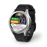 MyKronoz Smartwatch ZeRound3, Touch, Bluetooth 4.2, Android/iOS, Plata/Negro - Resistente al Agua